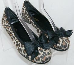 Aerosoles Diamondbec fabric leopard print round toe bow slip on flats 6M 5712 - $23.52