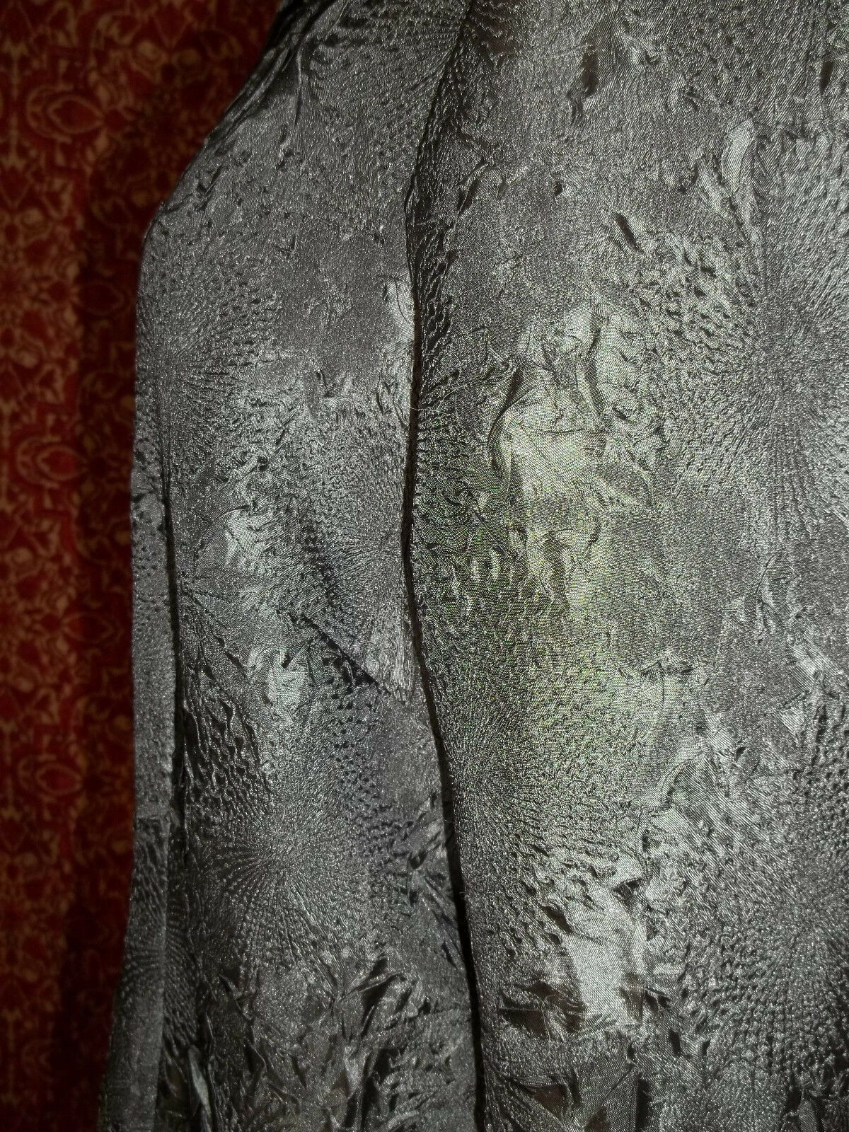 KORET black wrinkle polyester long sleeve blouse 16 (T45-03G8G) image 5