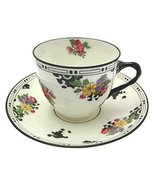 Royal Doulton H1420 Black and Floral c1925 5.5 Inch Saucer only - $35.67