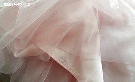 BLUSH PINK Maxi Tulle Skirt Elastic High Waist Blush Full Maxi Long Tulle Skirt  image 8