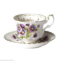 Royal Albert SEPTEMBER Flower of the Month ENGLAND TEA CUP SAUCER - $46.74