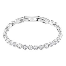 SWAROVSKI Women's Tennis Bracelet, White, Rhodium plated - $144.32