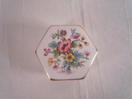Coalport Ming Rose Hexagonal Box with Lid - $51.46 CAD