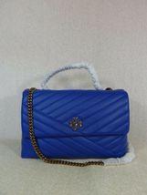 NWT Tory Burch Nautical Blue Kira Chevron Convertible Shoulder Bag image 4