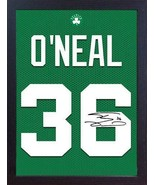 Shaquille O'Neal Boston Celtic NBA signed autograph CANVAS 100% cotton F... - $20.46