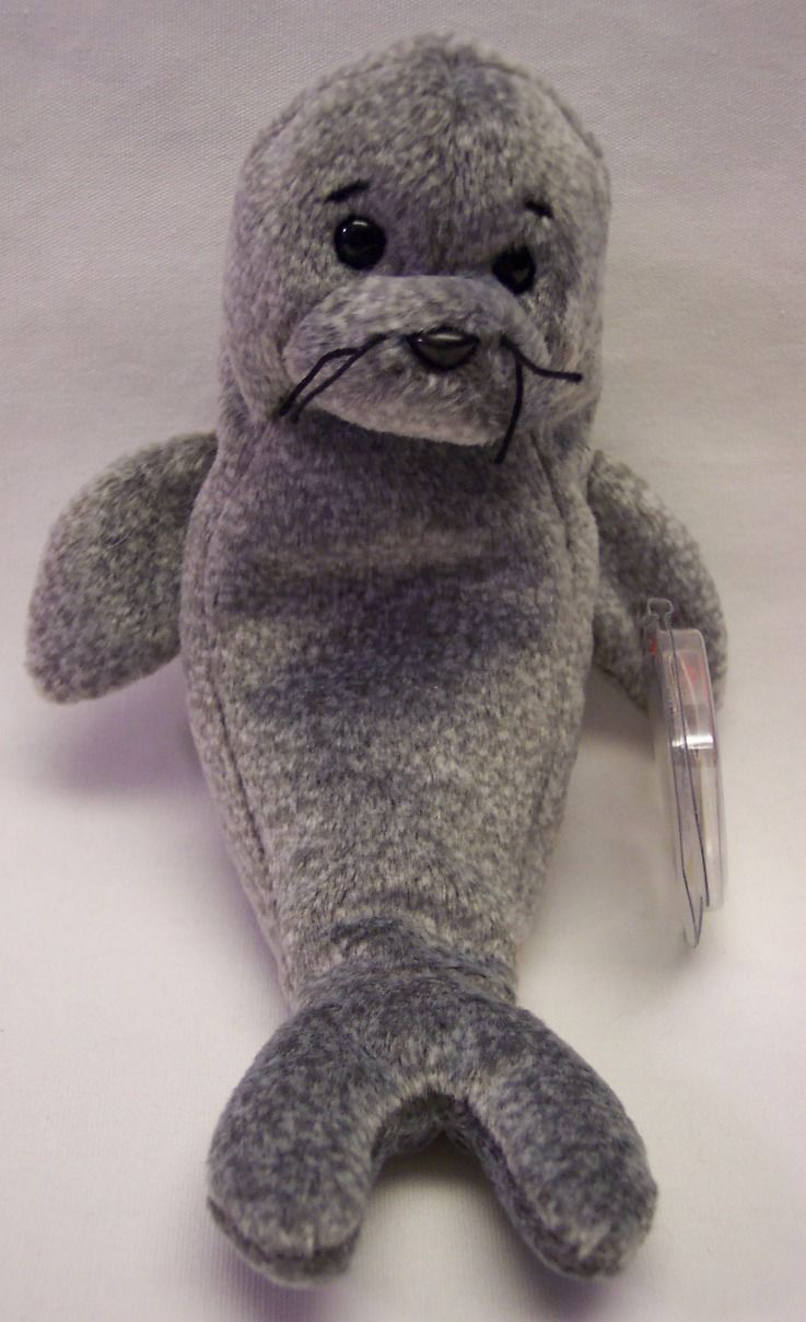 70a5d66969d Ty Beanie Baby Slippery The Gray Seal 7