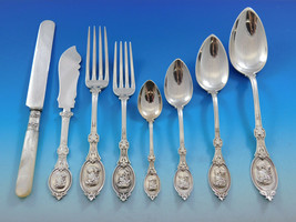 Medallion by H&S Sterling Silver Flatware Service for 12 Set 104 pieces  - $18,500.00