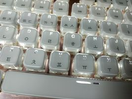 Qsenn ARES-Q150 Korean English Keyboard Blue Switch USB Wired LED Crystal Keycap image 5