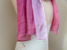 Pink Watercolor Fashion Scarf 68 inches long 24 inches wide image 4