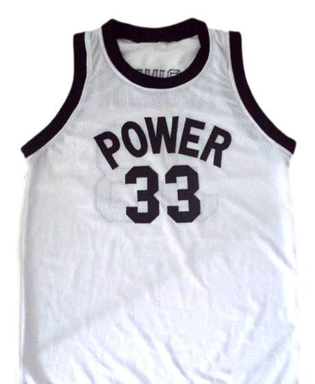 Alcindor  33 power high school abdul jabbar basketball jersey white 1