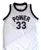 Alcindor #33 Power High School Abdul Jabbar Basketball Jersey White Any Size  image 1