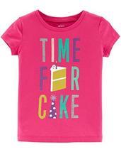 Carter's Girls' 2T-8 Short Sleeve Tees (Pink/Birthday, 7) - $15.35