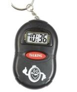 TALKING POCKET KEY RING MULTI LANGUAGE LED TIME DISPLAY - $9.99