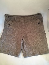 Womens AGB Brown Shorts Size 12 Linen Walking S... - $15.84