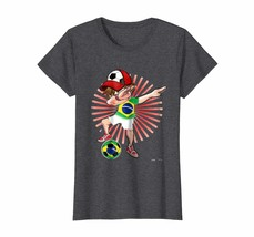 Brother Shirts - Dabbing Soccer Boy Brazil Jersey Tshirt Brazil Flag Foo... - $19.95+