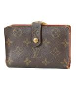 Authentic LOUIS VUITTON French Kisslock Monogram Wallet Coin Purse #3332 - $85.50