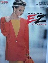 Vogue 8276 Sewing Pattern Jacket Dress Size 6 8 10 Vintage - $12.59