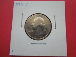 1977-D Washington Quarter Coin DDO - DDR - $250.00
