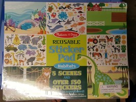 Melissa Doug Habitats Reusable Sticker Pad - $7.99