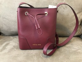Michael Kors Cary Small Bucket Bag Oxblood Leather NWT  - $148.38