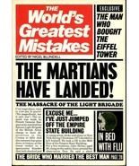 World's Greatest Erreurs par Nigel Blundell 1984, Livre de Poche U.S.A - $12.05