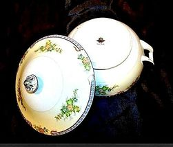 Tureen Serving Bowl with Lid AA18-1193G Vintage MeitoChina Hand Painted image 5