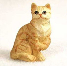 Shorthaired Red Tabby Cat TINY ONES Figurine Statue Pet Resin - $8.99