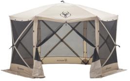 "Gazelle G6 8 Person 6 Sided 124"" x 124"" Portable Canopy Gazebo Screen Tent - $799.99"