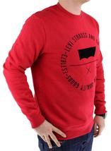 Levi's Men's Premium Classic Graphic Cotton Sweatshirt Red 3LVYM1111F image 4