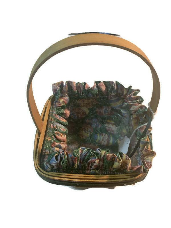 Longaberger Easter Basket Lining plastic liner handwoven dated 1998
