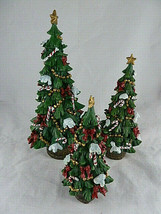 """Home Interiors Christmas Trees Decorated sizes 6 7 & 9.5"""" New in Box - $25.73"""