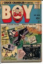 Boy #155 1955-Lev Gleason-Joe Kubert-parachute cover-Iron Jaw-VG - $45.40