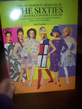 Vtg 1991 GREAT FASHION DESIGNS OF THE SIXTIES Paper Dolls (Tom Tierney) - $3.96