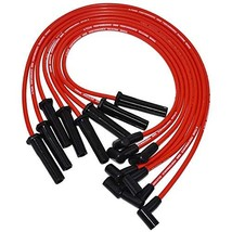A-Team Performance Red Silicone Spark Plug Wires Set 90 Degree Black Boot for HE image 2