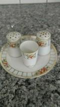 Vintage Hand Painted Nippon Toothpick Holder Salt and Pepper Shaker Set - $19.31