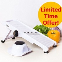 3Haus Adjustable White Professional Mandoline Slicer- Vegetable Slicer- ... - $19.51