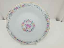 "Liling Fine China Dinner Plates Set of 4 Yung Shen White Roses Keepsake 10 5/8"" image 9"