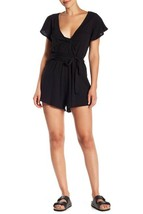 Free People Women's Ballerina Tie Waist Romper Black Small - $77.22