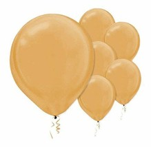 """Gold Pearlized Latex Balloons (100 Pack) 12"""" - $15.19"""