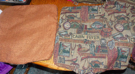 Pair of Rust Cabin Fever Print Throw Pillows  19 x 19 - $49.95