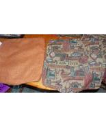 Pair of Rust Cabin Fever Print Throw Pillows  19 x 19 - $49.95