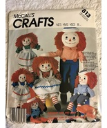 1980s Raggedy Ann, McCall's Crafts 813, Sewing Pattern - $28.00