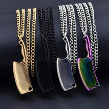 2019 High Polished Stainless Steel Mini Blade Chef Kitchen Knife Pendant Necklac - $9.45