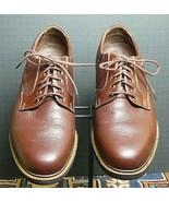 """Men's Neil M Brown/Cognac """"Wynne""""  Bison Leather Classic Oxford Sz 7D MI... - $52.82"""