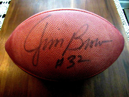 JIM BROWN # 32 CLEVELAND BROWNS HOF SIGNED AUTO ROZELLE WILSON FOOTBALL JSA - $395.99