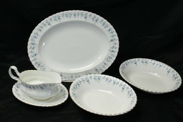 Royal Albert Memory Lane Platter Serving Bowls Gravy Boat  - $97.99