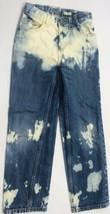 Vintage Oshkosh Custom Jeans Sz 10s Blue Denim Distressed Tie Dyed Wow! - $32.66