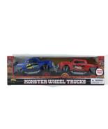 2 Monster Wheel Trucks Friction Powered Cars Kids Toy Gift 3+ - $24.73