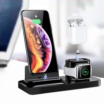 LEEHUR 3 in 1 Magnetic Phone Charger Stand Dock Charging Station for iPh... - $45.78