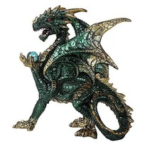 Pacific Giftware Green Dragon Guardian of The Mystical Orb Relic Collectible Fig - $24.00